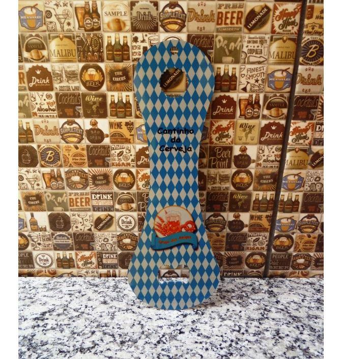 Abridor de garrafas Gigante Alumínio Cinza Personalizado