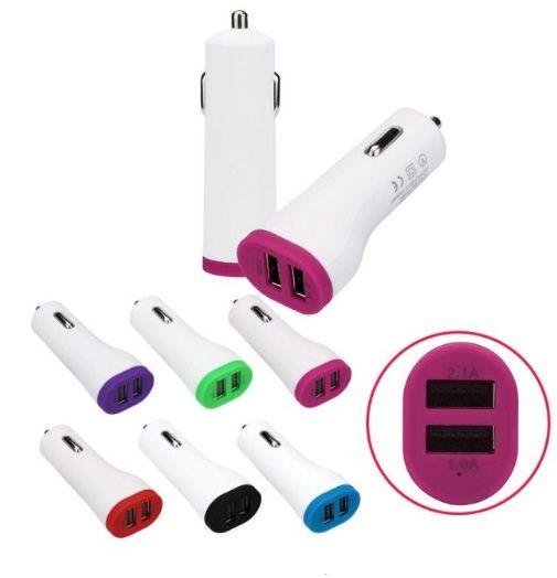 Adaptador Carregador para Isqueiro do Carro 2 entradas USB para Celular MUITO ÚTIL