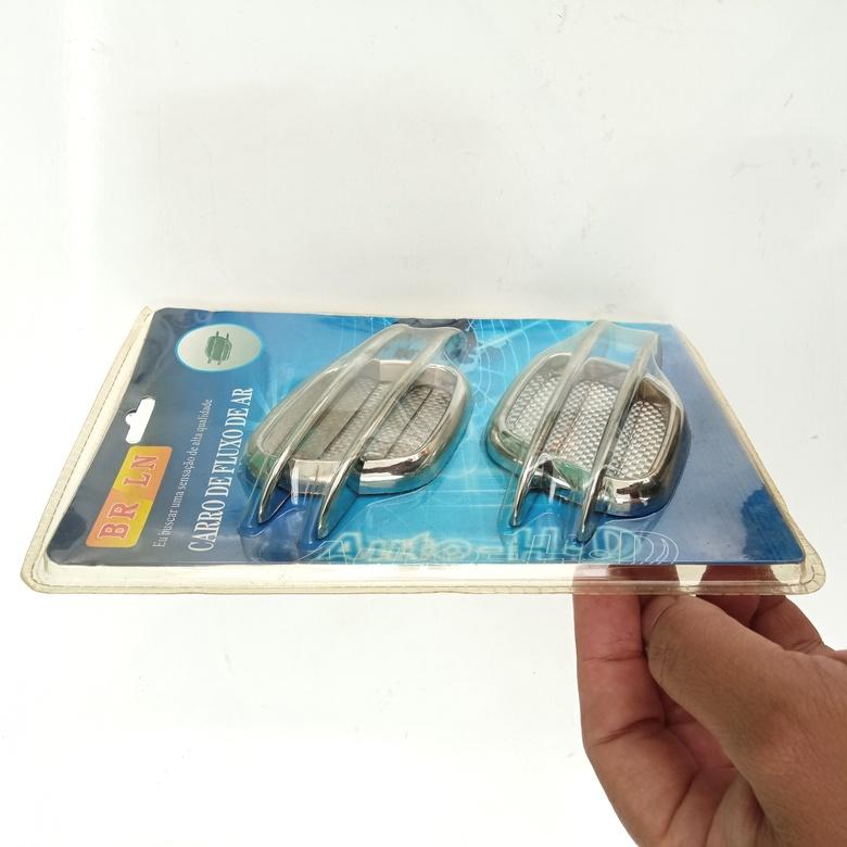 Adesivo 3D Automotivo Esportivo Decorativo Fluxo de Ar Guelra de Tubarão para Carro