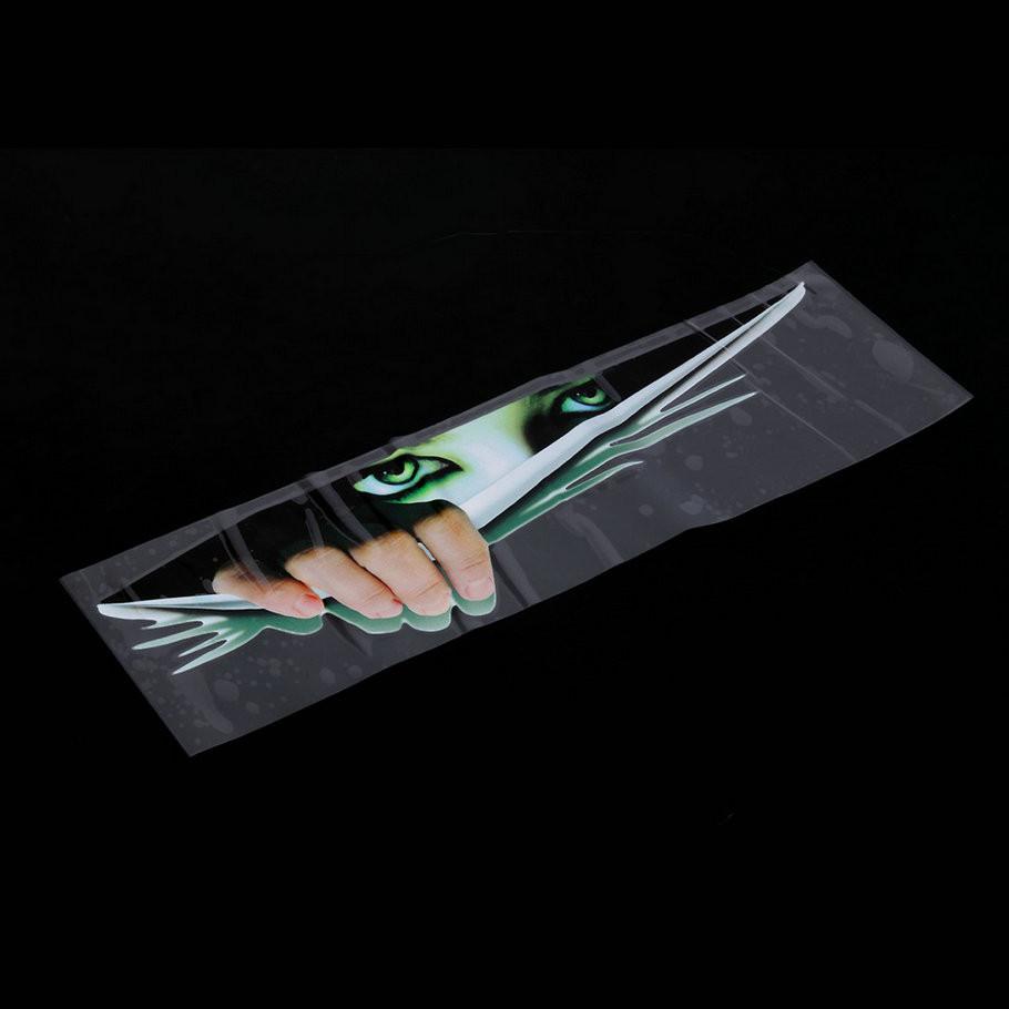 Adesivo 3D Engraçado Decalque de Carro Olhos Espreitando pessoa escondida