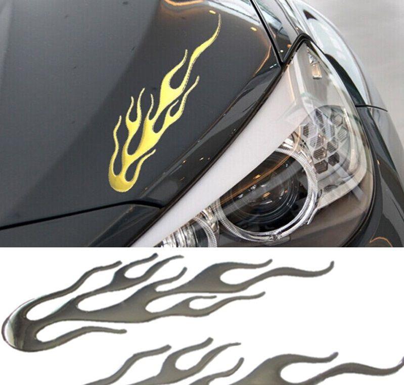 Adesivo 3D Resinado Chamas para carro Moto para Estilo veloz e invocado