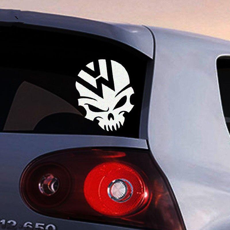 Adesivo de Carro Caveira Logotipo Símbolo da Volkswagen VW