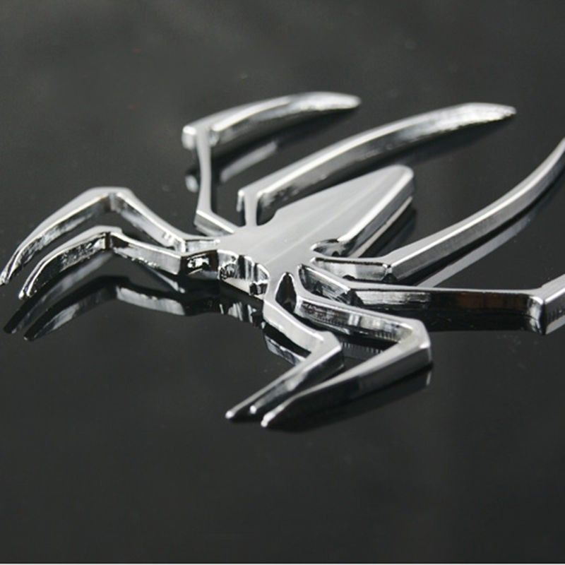 Adesivo de Carro Cromo 3D Emblema do Homem Aranha de Metal Decalque