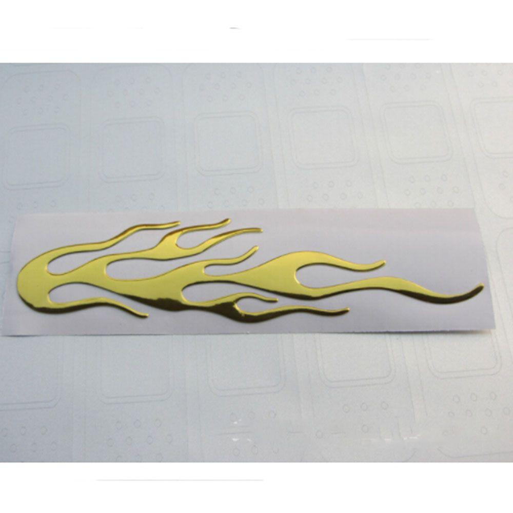 Adesivo de Vinil Metalizado 3D Chama Fogo Reflexivo  Decalque para Carro Motocicleta