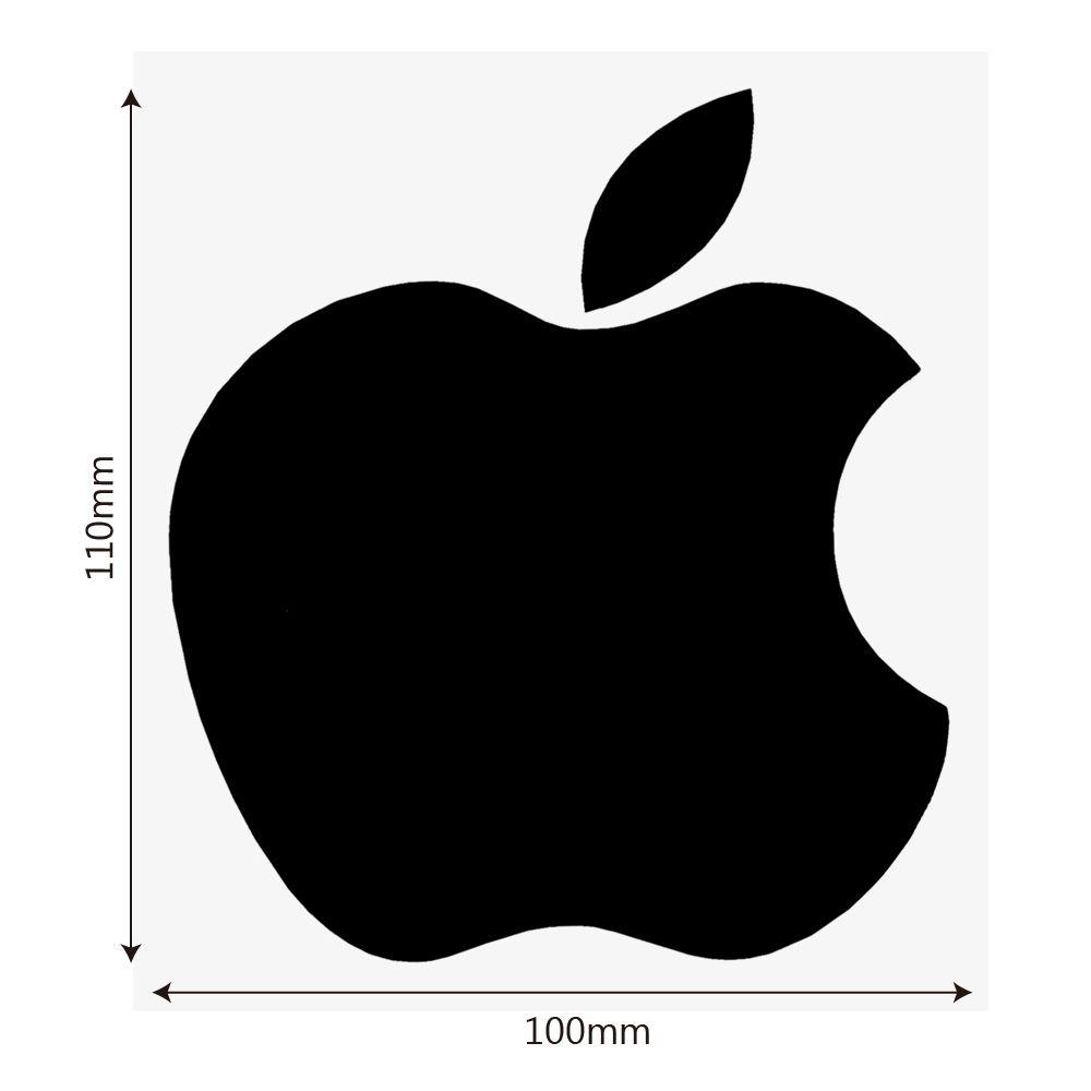 Adesivo e Decalque de Carro Logotipo da Apple Maçã Reflexivo
