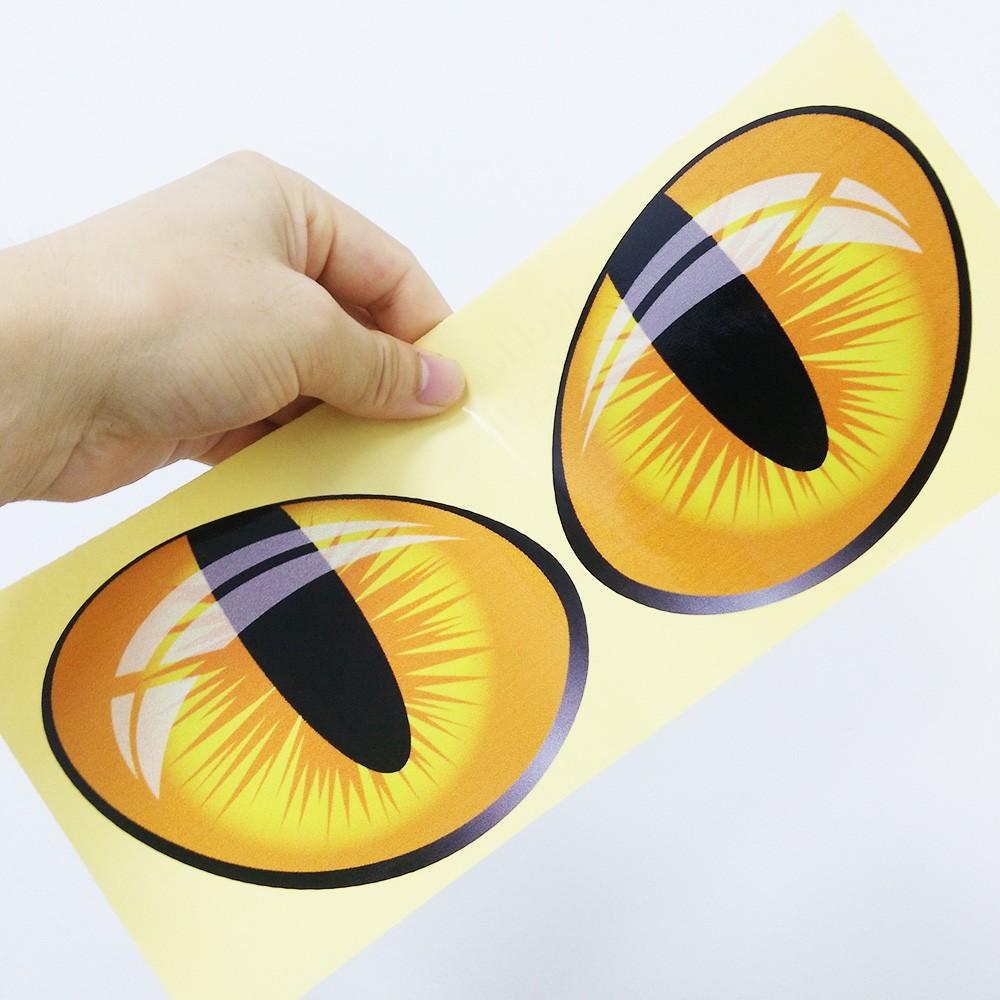 Adesivos de Carro 3D par Olhos de Gato Decalque de Vinil Espelho Retrovisor