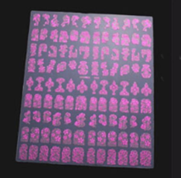 Adesivos Decalques Metalizados para Unhas Textura 3D