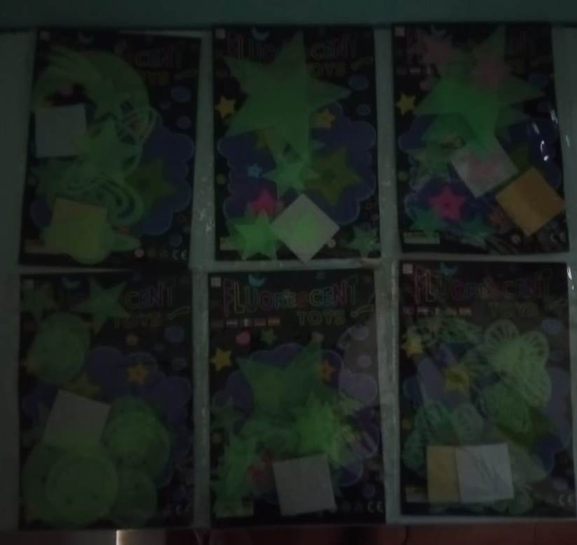 Adesivos fluorescentes de parede de teto para corredor de quarto escuro com brilho no escuro Luminosos