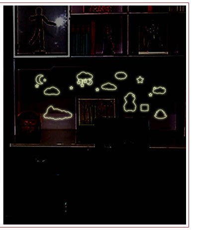 Adesivos Fluorescentes Luminosas Brilha Escuro Urso do Sono Desenhos