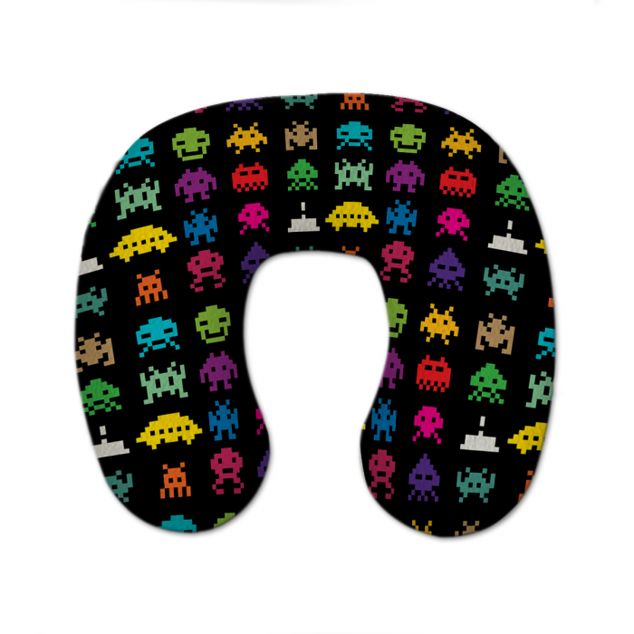 Almofada de Pescoço Infantil fundo AREIA c/ Enchimento Personalizada
