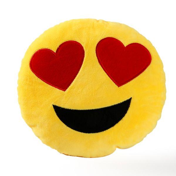 Almofada Decorativa 30cm Emoji Emoticon Bonito e Divertido