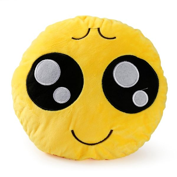 Almofada Decorativa 30cm Emoji Emoticon Bonito e Divertido