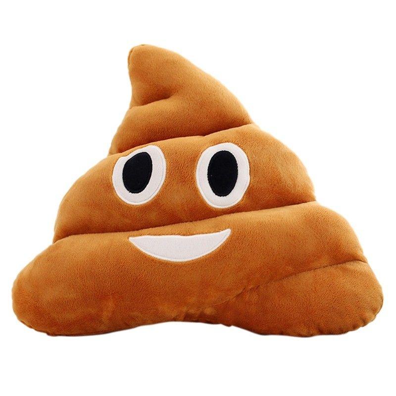 Almofada Forma Cocô Emoticon Smiley Emoji Divertido Macia