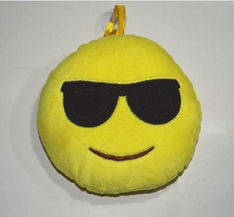 Almofada Redonda de Pendurar 14 cm Emoji Smiley Emoticon com ventosa