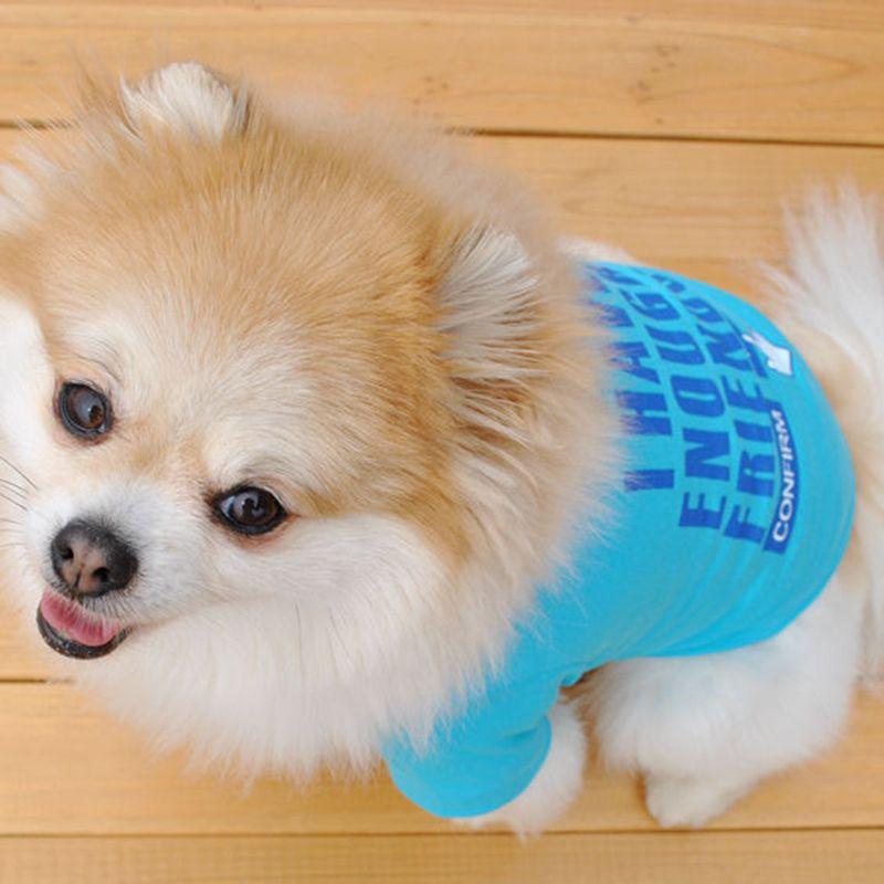 Roupa Camiseta Animal de Estimação Gato ou Cachorro Malha Respirável