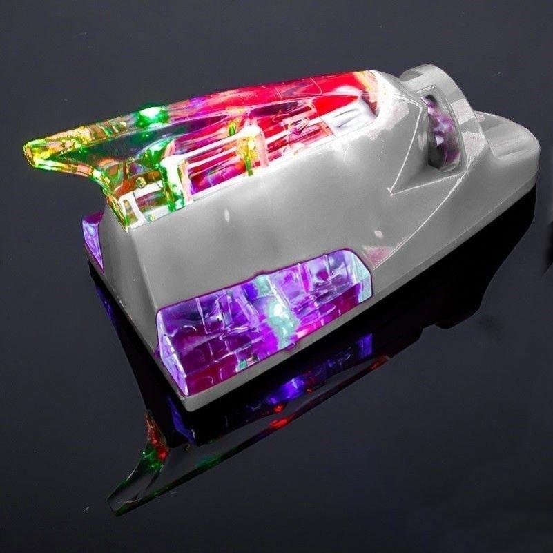 Antena de tubarão de carro universal sem fio com LED alimentado pelo Vento Apenas Decorativa Antena de barbatana de tubarão antiestática