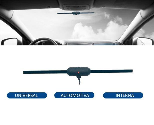 Antena Interna Capta Sinal de TV AM FM Automotiva F1 Universal Carro