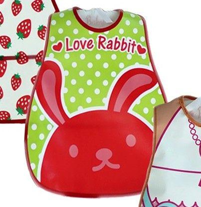 Babador para Bebê com bolso para Menina ou Menino impermeável