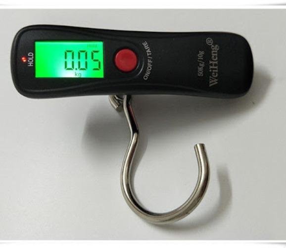 Balança Digital Portátil Com Gancho Vertical 50kg Pesca WH-A18 Doméstica Comércio