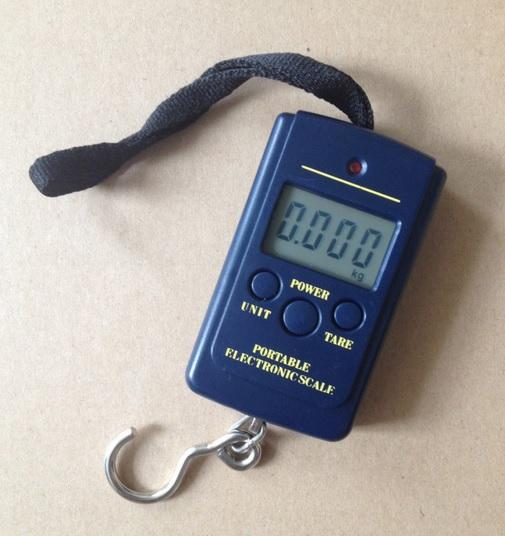 Balança manual portátil digital para pesca para 40kg de peixes