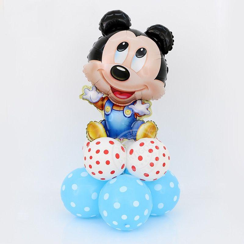 Balão de Aniversário do Mickey Mouse Bebê Feliz Decoração de Festa