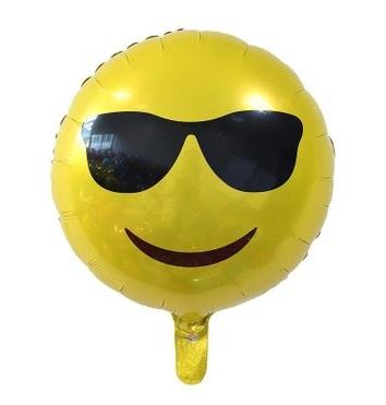 Balão de aniversário 3 unid Emoji Smile 18 pol 45cm para Decoração de festa