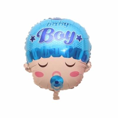Balão de Aniversário Metalizado Cabeça de Bebê Neném