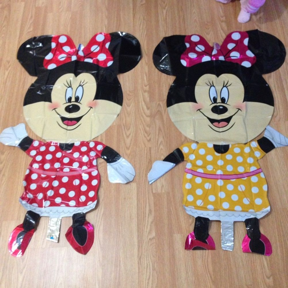 Balão de Festa de Aniversário Mickey Minnie Mouse 112cm Gigante