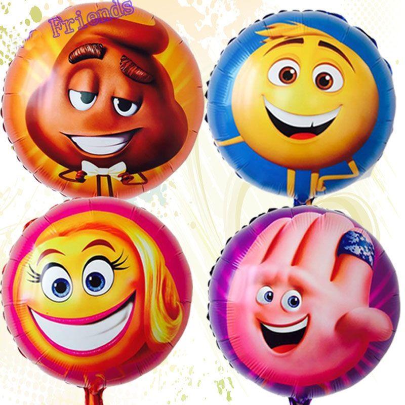 Balão Emoji 45cm 2 unid aniversário sorriso rosto Decoração de Festa