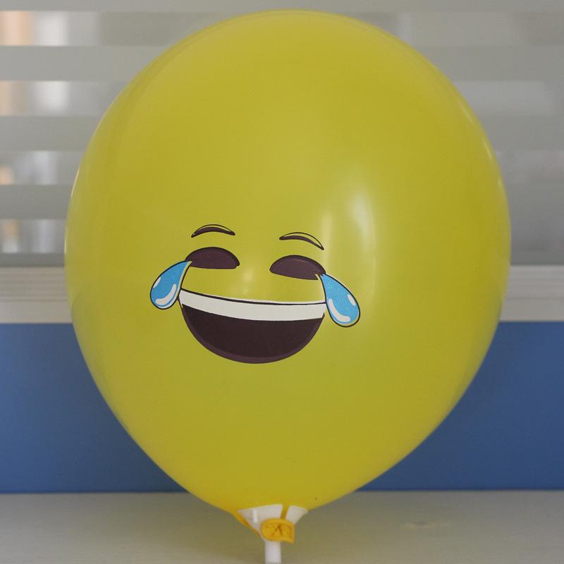 Balões Bolas Látex Emoji Smiley 100 unid Expressão Amarelo de Festa de Aniversário