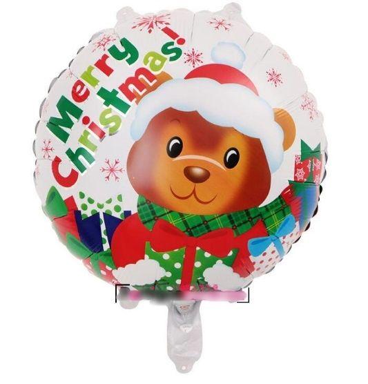 Balões de Natal Metalizado Grande 45cm para Aniversário Papai Noel