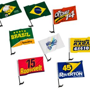 Bandeira para Carro 43x30cm com Suporte Personalizada