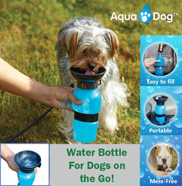 Bebedouro Portátil Aqua Dog - 600ml para seu cachorro ou gato