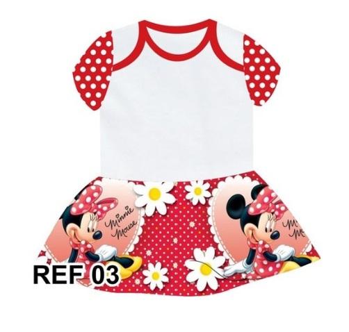 Body com Sainha Minnie Vermelha Personalizado
