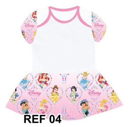 Body com Sainha Princesas Disney Personalizado