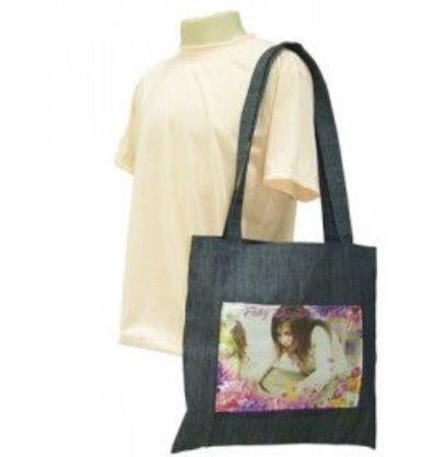Bolsa Brin tipo Ecobag Personalizada com Cetim 42x40cm com foto
