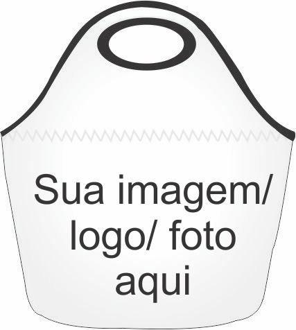 Bolsa Lancheira Neoprene 30cm x 28cm Revestida de Tecido Personalizada