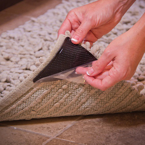 Borracha anti-deslizamento evita escorregar para tapetes 8pçs na caixa