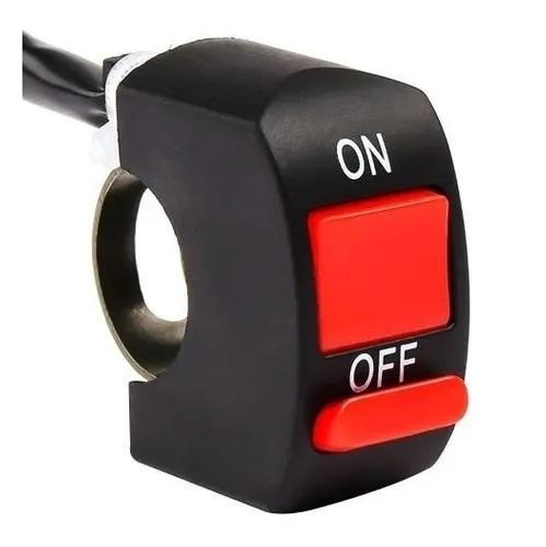 Botão Interruptor On off Liga Desliga para Farol Auxiliar Milha Moto Liga Zem com fio