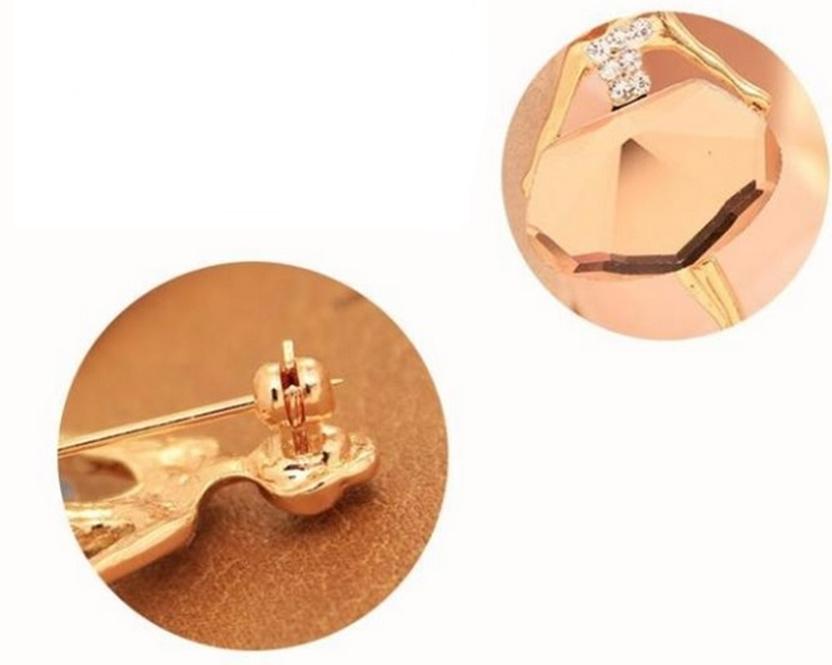 Broche boton Bailarina Fashion Ballet em cristal branco ou Champagne