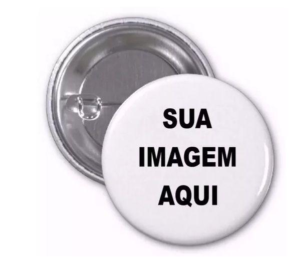 Broche botton Personalizado 3 unid com sua imagem para Casamento Empresa Candidatos Brasil