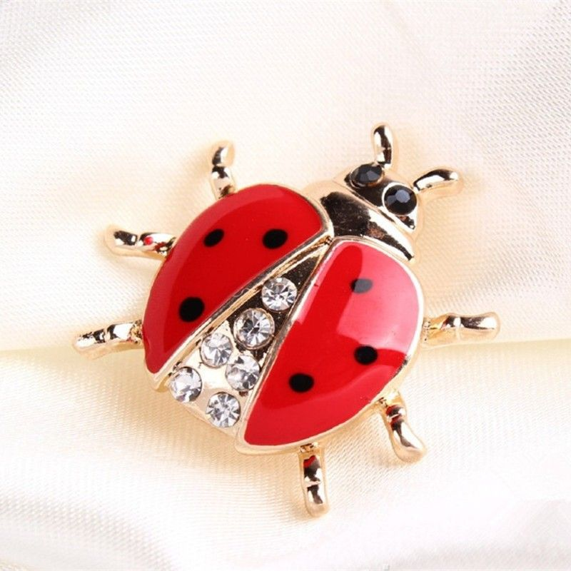 Broche de Joaninha Vermelha para mulheres Meninas Lady Bug