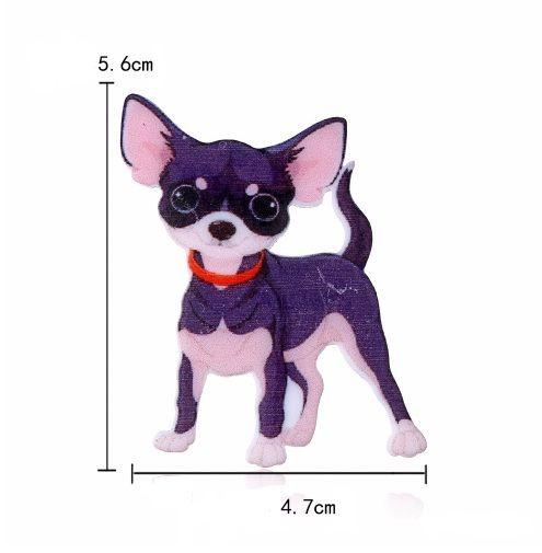 Broche Pin acrílico Cão Gato Cachorro Pet Impressão Animal Broches