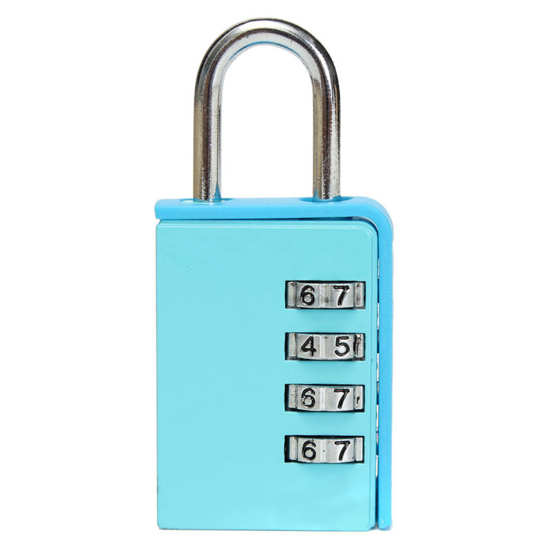 Cadeado de Bloqueio com Combinação Códigos de 4 Dígitos para Caixa Bagagem Mala