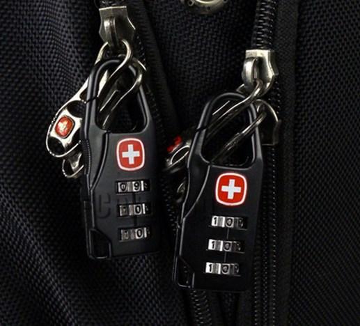 Cadeado de Bloqueio tipo suíço com código cadeado para bagagem