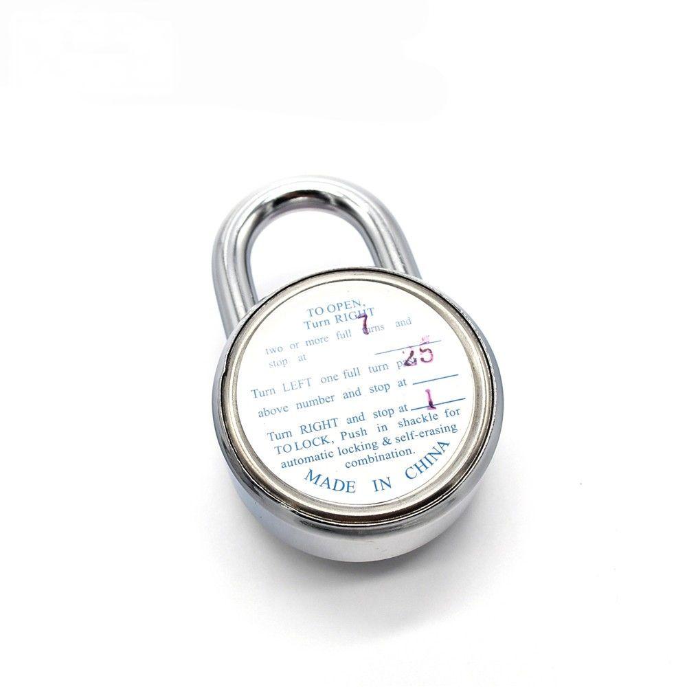 Cadeado em Aço Endurecido com Fechamento de Combinação de 3 Códigos