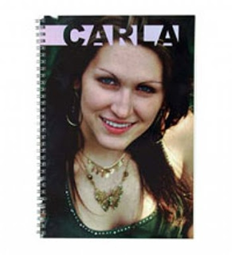 Caderno Pequeno Capa Plástica 54 Folhas Espiral Metálico Personalizado com foto