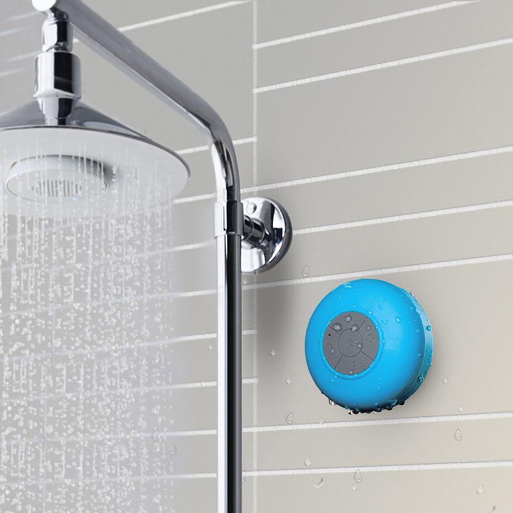 Caixa de som portátil à prova d'água sem fio Bluetooth uso em banheiro ou piscina