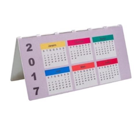 Calendário de Mesa em Alumínio Personalizado 2 lados