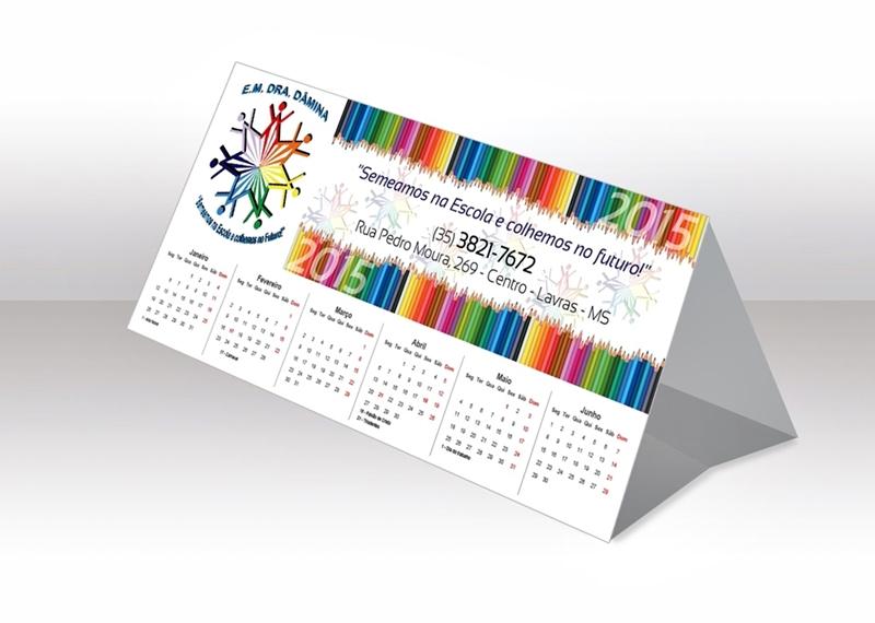 Calendário Papel Cartão Personalizado